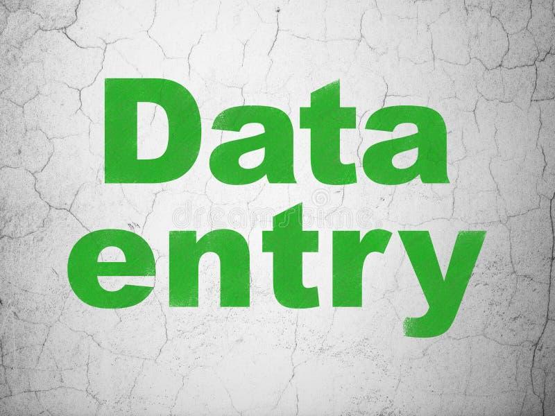 Informatieconcept: Invoer van gegevens op muurachtergrond stock foto's
