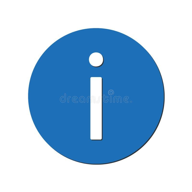 Informatiepictogram in blauwe cirkel Vector illustratie EPS10 stock illustratie