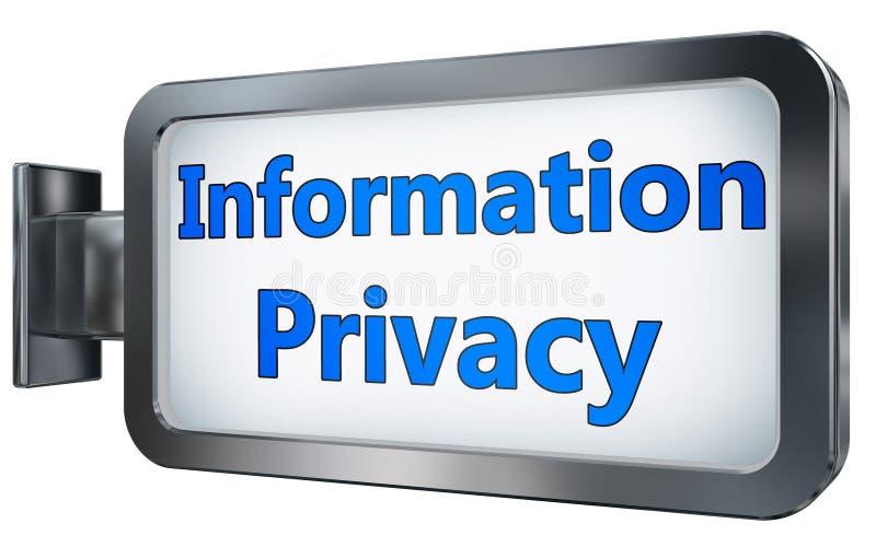 Informatieprivacy op aanplakbordachtergrond stock illustratie