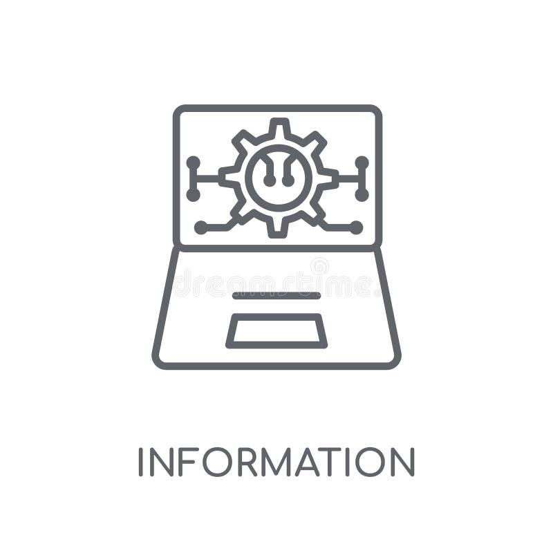 informatietechnologie lineair pictogram Moderne overzichtsinformatie t vector illustratie