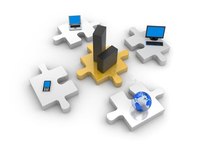 Informatietechnologie van de wereld royalty-vrije illustratie