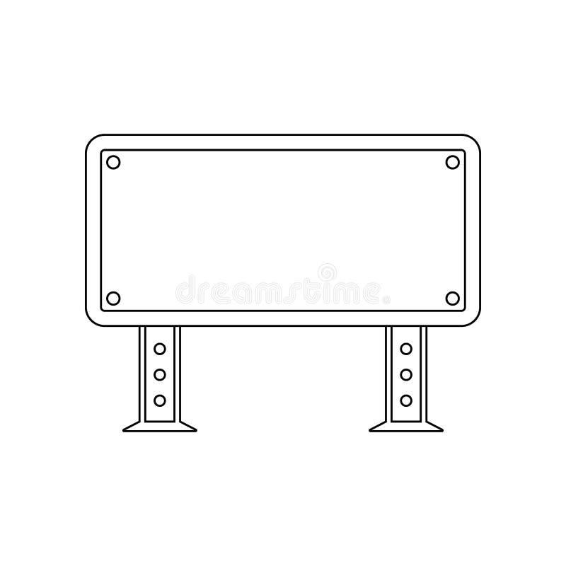 Informatieteken gekleurd pictogram E Overzicht, dun lijnpictogram royalty-vrije illustratie