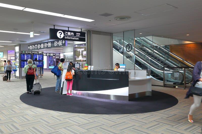 Informatieteller bij de Luchthaven Singapore van Japan stock afbeelding