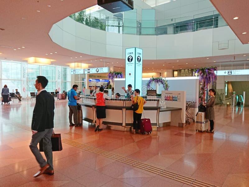Informatieteller bij de Luchthaven van Japan stock foto's