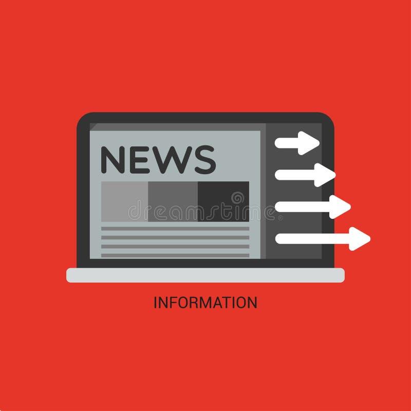 information royaltyfri illustrationer