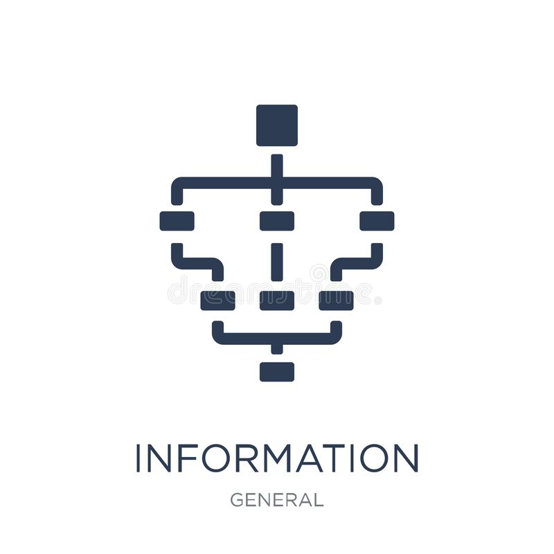 information architecture icon. Trendy flat vector information ar vector illustration