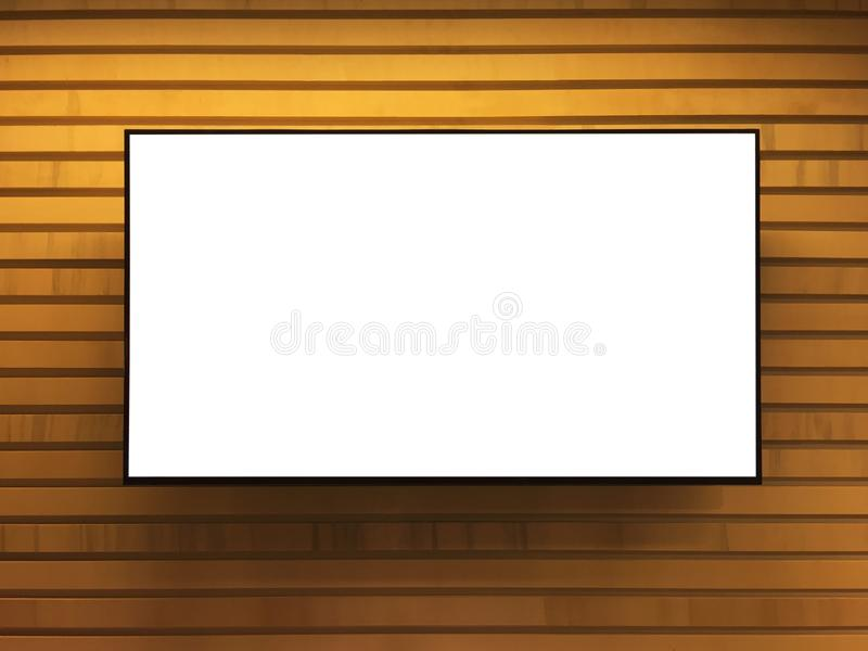 Information board, kiosk with clipping path royalty free stock image