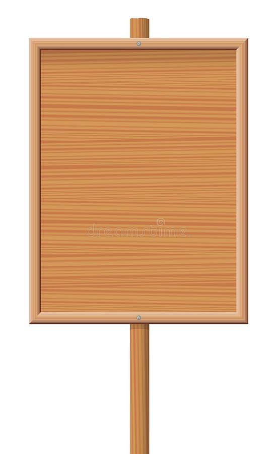 Information Board Wooden Texture stock illustration