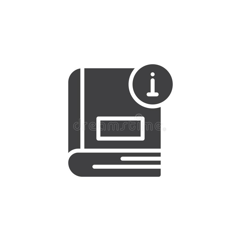 Information book vector icon royalty free illustration