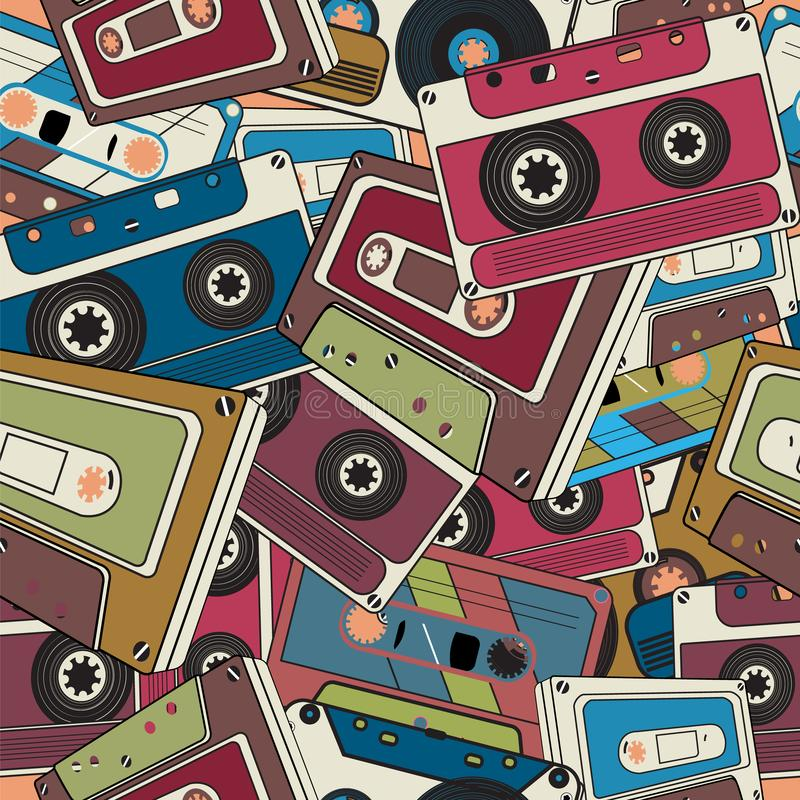 The information carrier on a magnetic tape, nostalgia. royalty free illustration