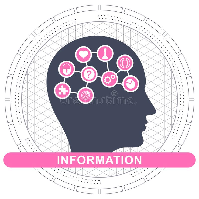 Information concept illustration royalty free illustration