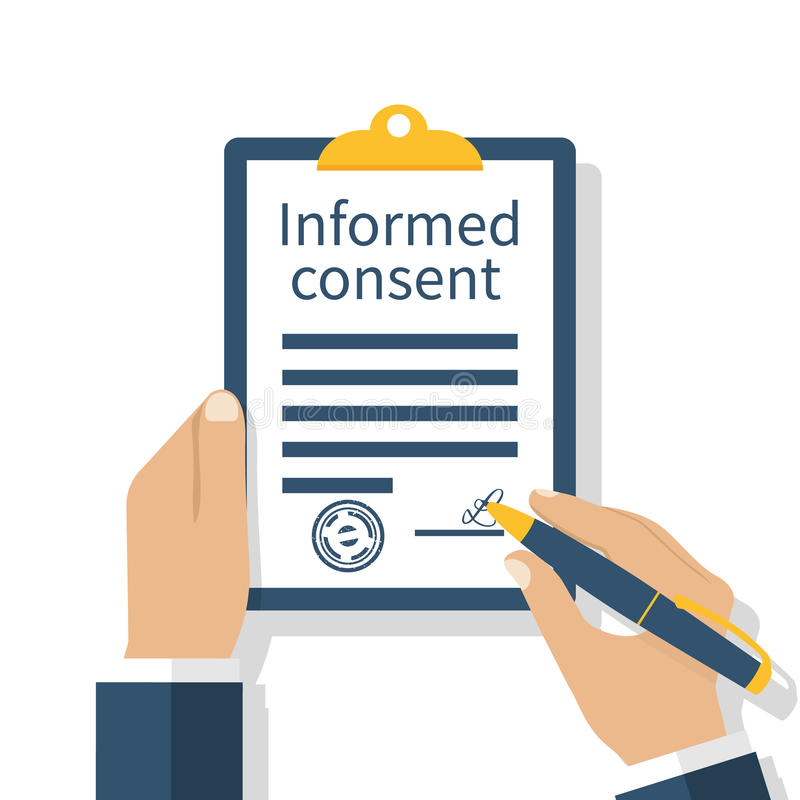 Free Information Consent Vector Stock Photos - 97659403