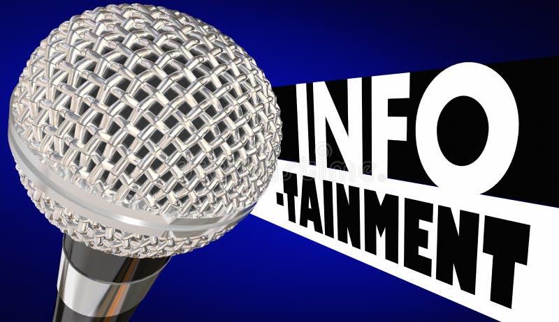 Information 3d Illustratio om Infotainmentmikrofonunderhållning vektor illustrationer