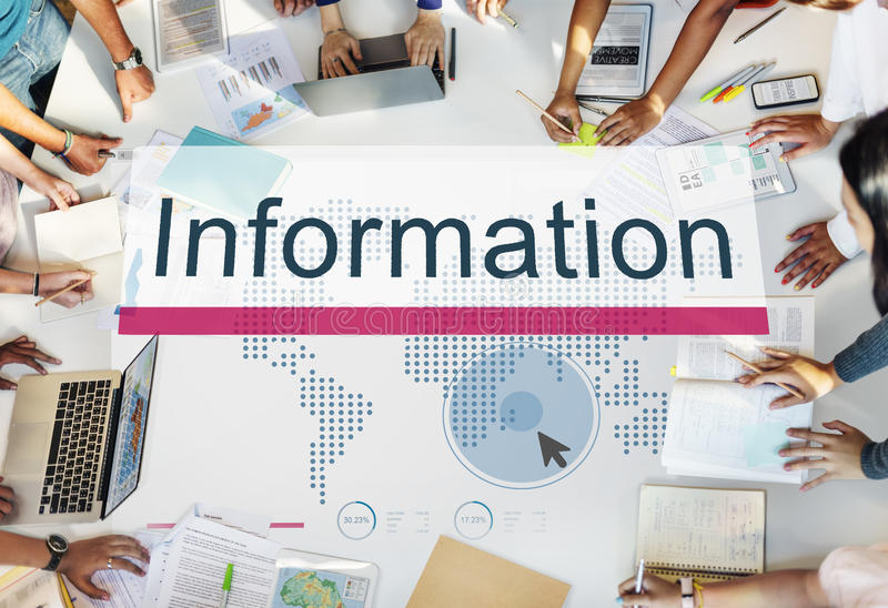 Information Database Resources Results Concept stock photos