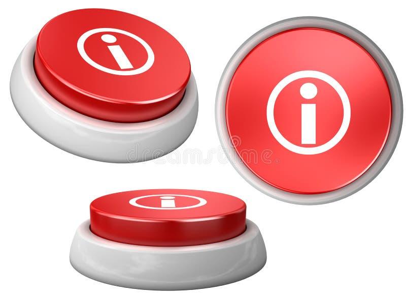 Information de bouton illustration libre de droits