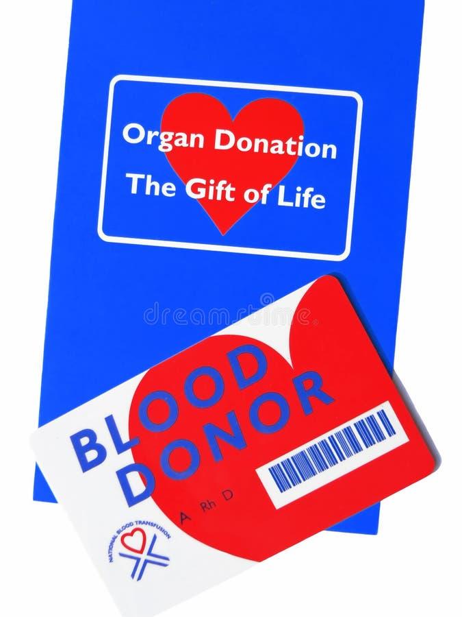 Information de donateur d'organe et de sang. images libres de droits