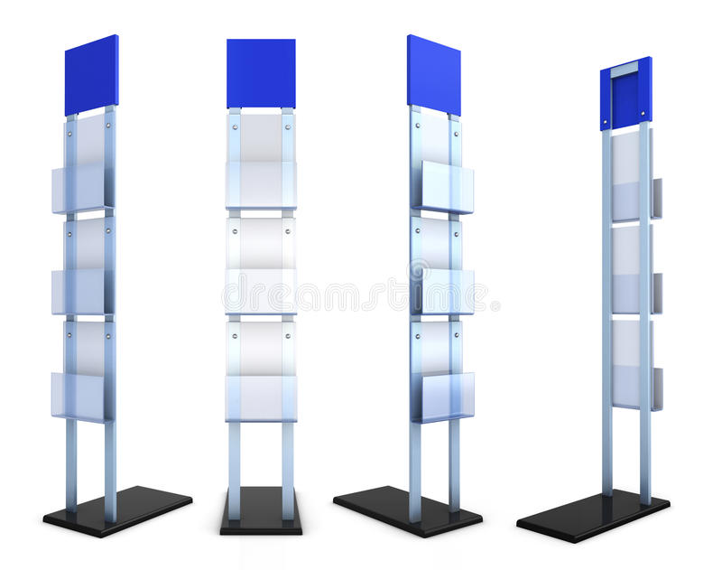 Information desk front view with material from different species royalty free illustration