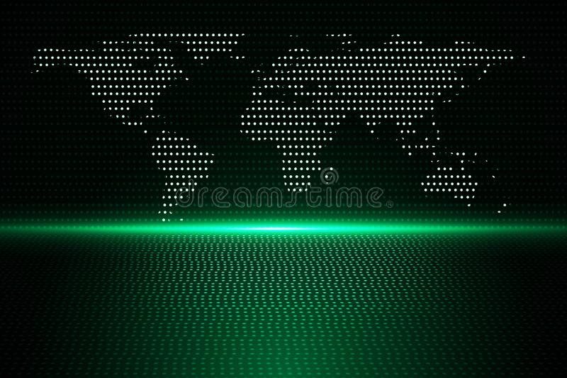 Information and global data concept royalty free illustration