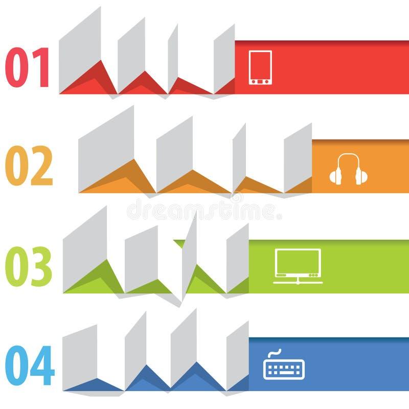 Information-Grafik Origami lizenzfreie abbildung