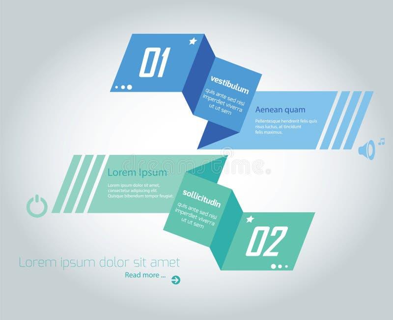 Information-Grafik Origami stock abbildung