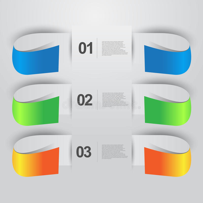 Information graphic banners royalty free illustration