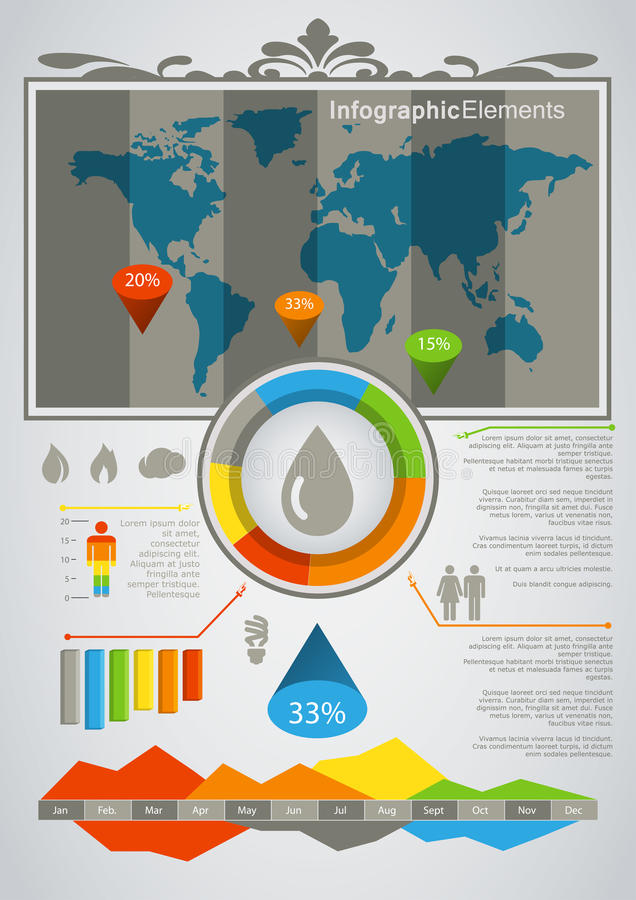 Download Information Graphics stock illustration. Image of infographic - 24520644