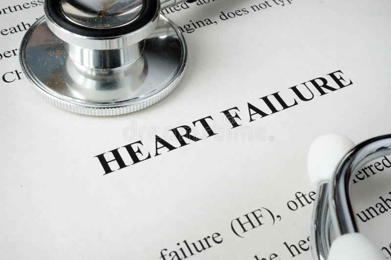 Information about Heart failure. stock images