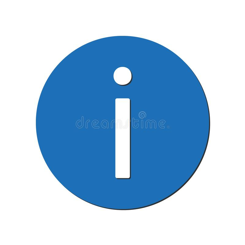 Information icon in blue circle. vector illustration eps10 stock illustration