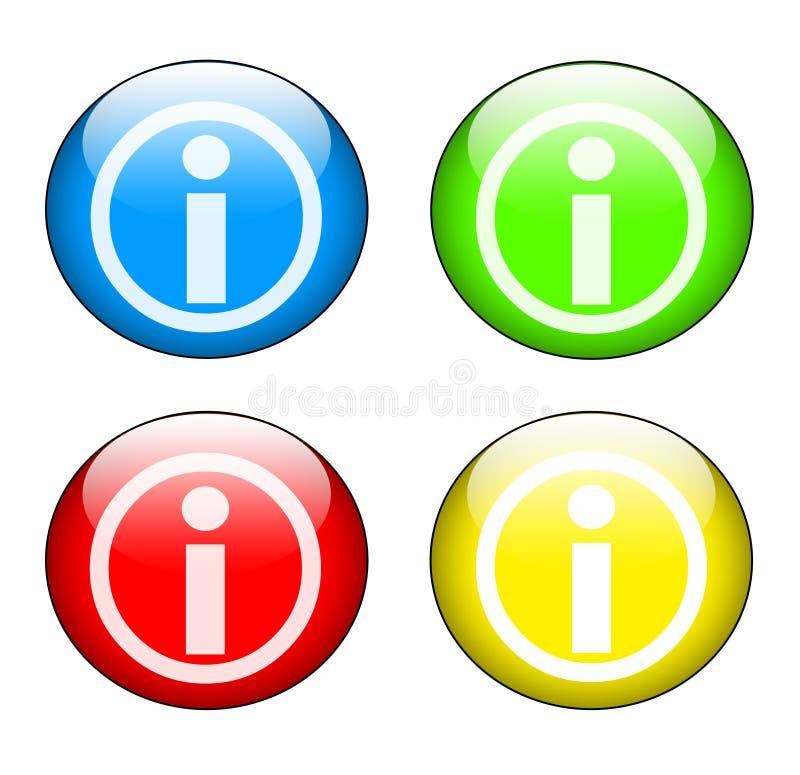 Information icon set stock illustration