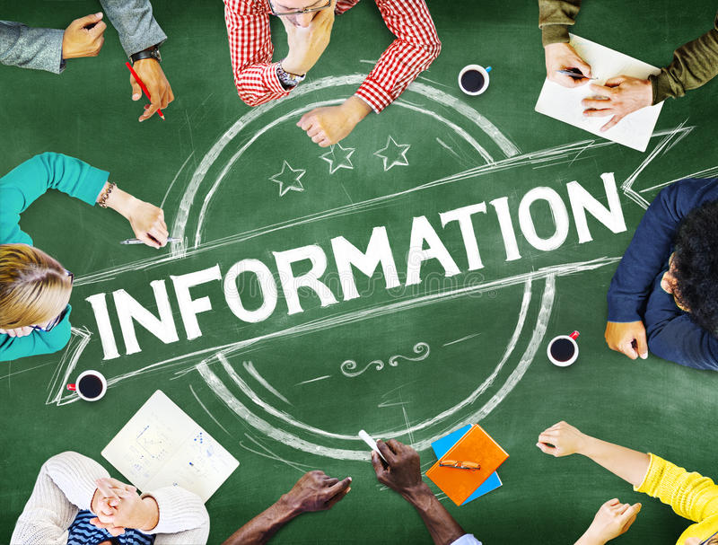 Information Info Data Facts Source Concept.  stock photos