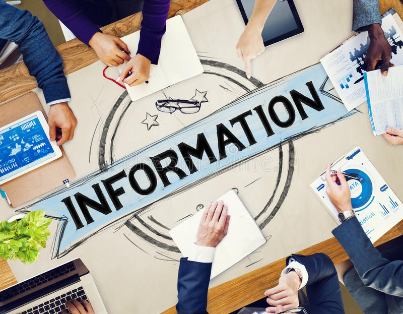 Information Info Data Facts Source Concept.  stock photo