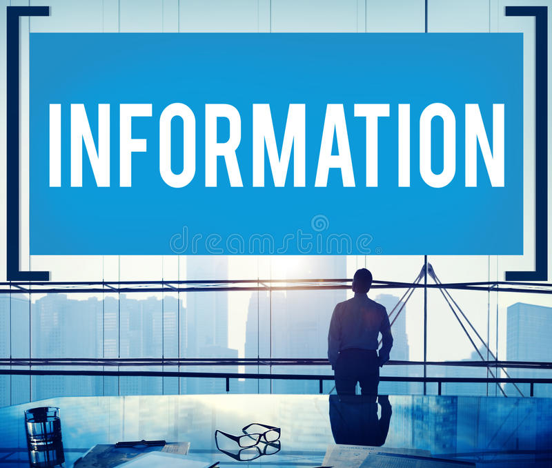 Information Info Media Research Sharing Concept.  stock images