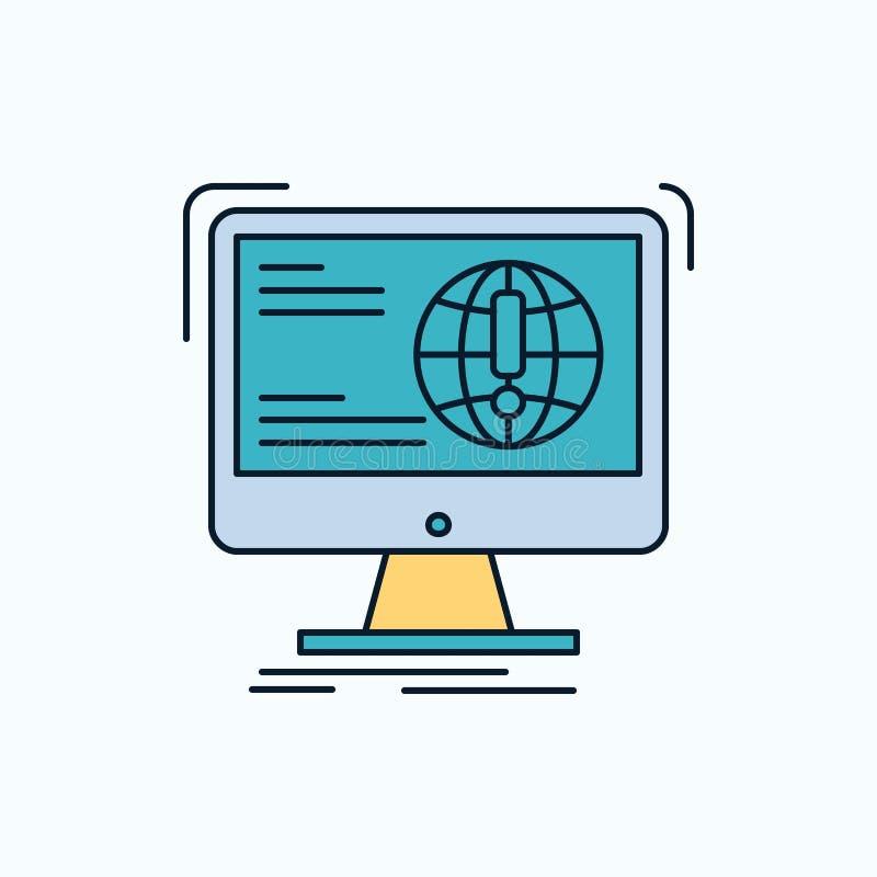 information innehåll, utveckling, website, plan symbol för rengöringsduk gr?nt och gult tecken och symboler f?r website och mobil stock illustrationer