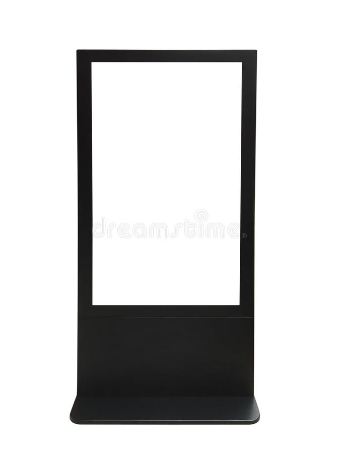 Information kiosk and screen have clipping path on white background stock photos