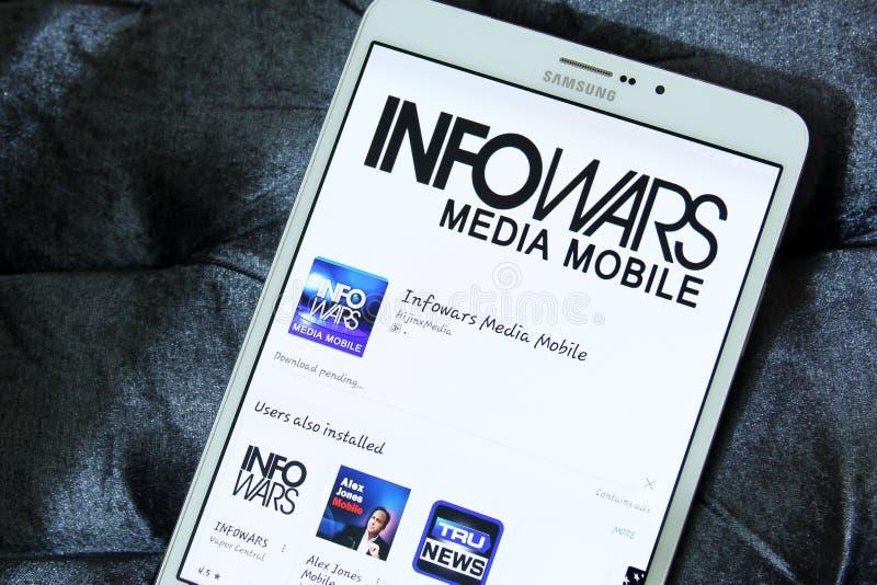 Information krigar app-logoen royaltyfri fotografi