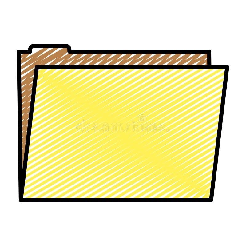 Information om data för kontor för klottermappmapp vektor illustrationer