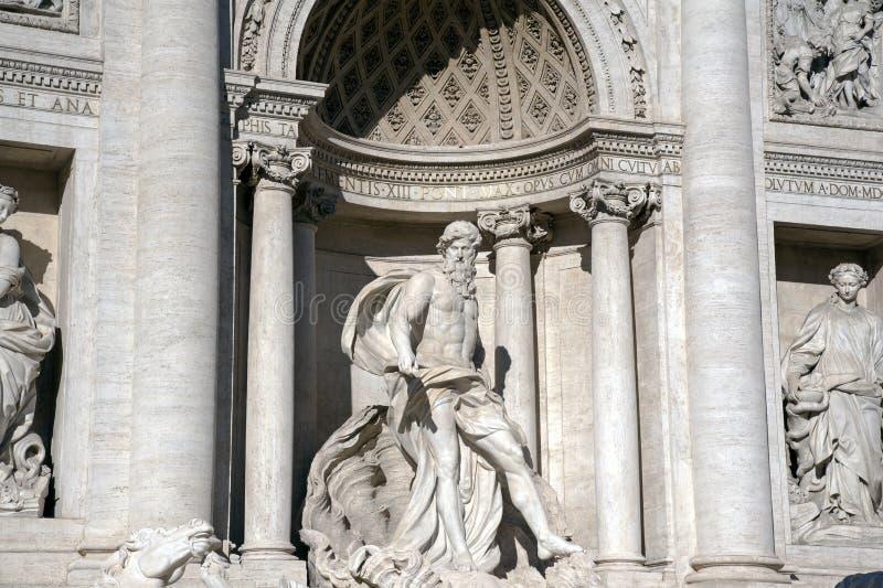 Information om grundaren av Trevi 1732-1762 i Rom royaltyfri fotografi