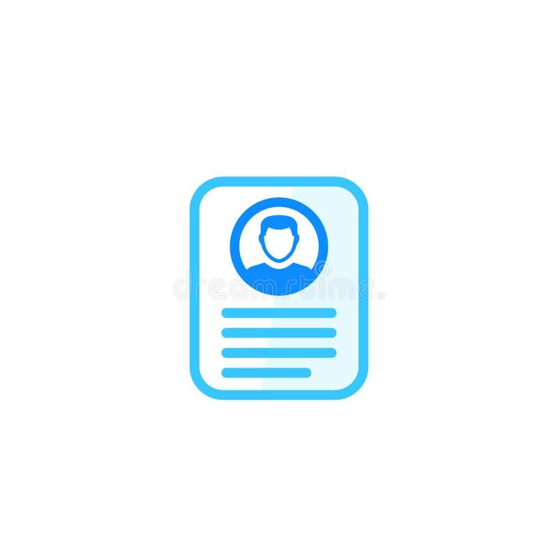 Information om konto, profilkort, personlig datasymbol stock illustrationer
