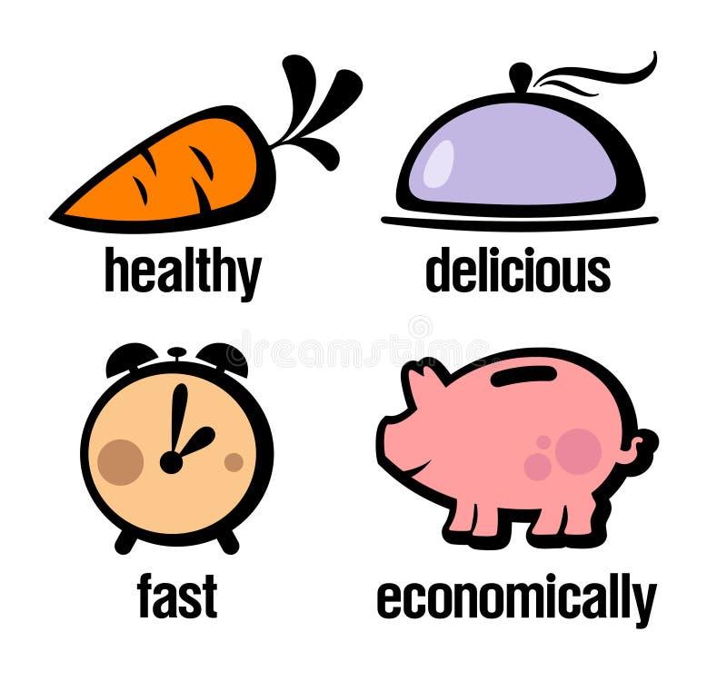 information om matlagningsymboler vektor illustrationer