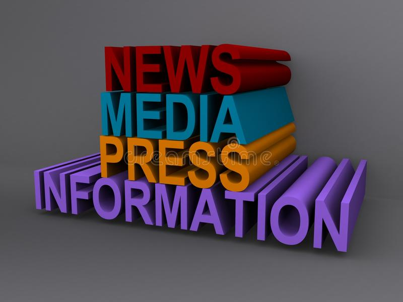 Information om nyhetsmediapress vektor illustrationer