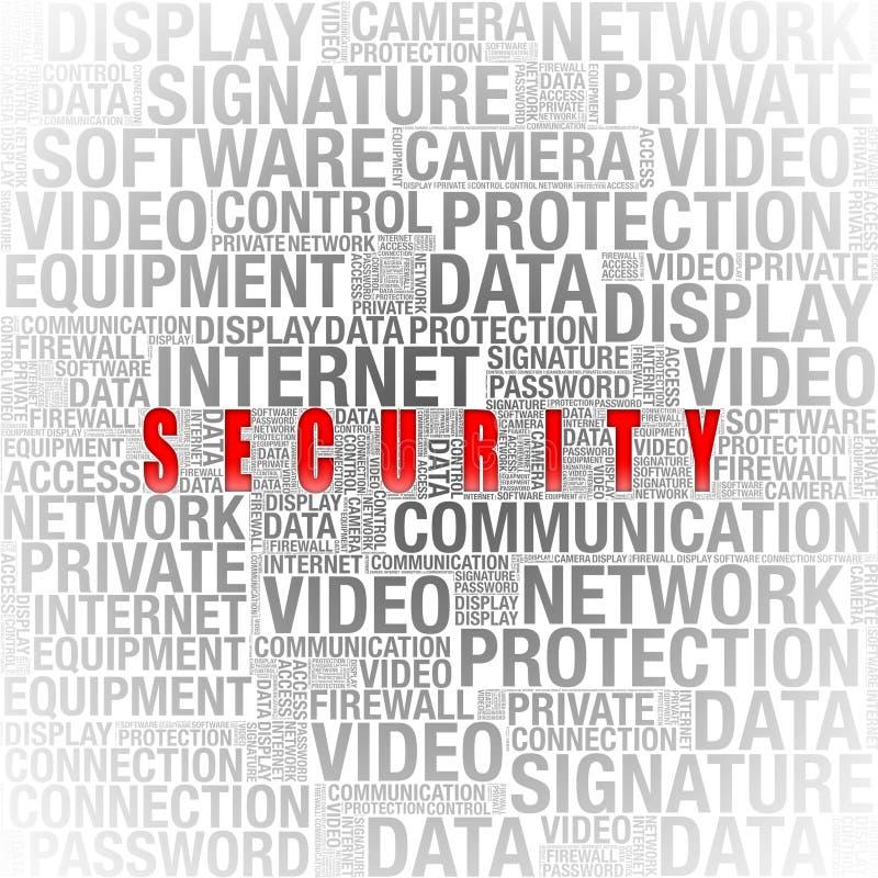 Information om säkerhet i ordcollage royaltyfri foto