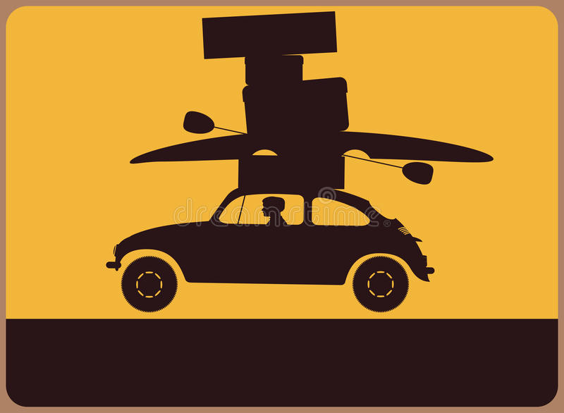 Information Plate With A Silhouette Of The Car Wit Royalty Free Stock Photography