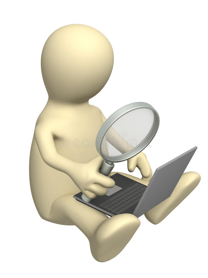 Information search vector illustration