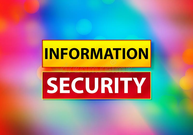 Information Security Abstract Colorful Background Bokeh Design Illustration royalty free illustration