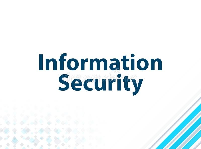 Information Security Modern Flat Design Blue Abstract Background stock illustration