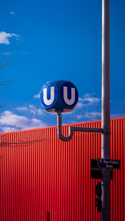 Information Sign Against Blue Sky royalty free stock image
