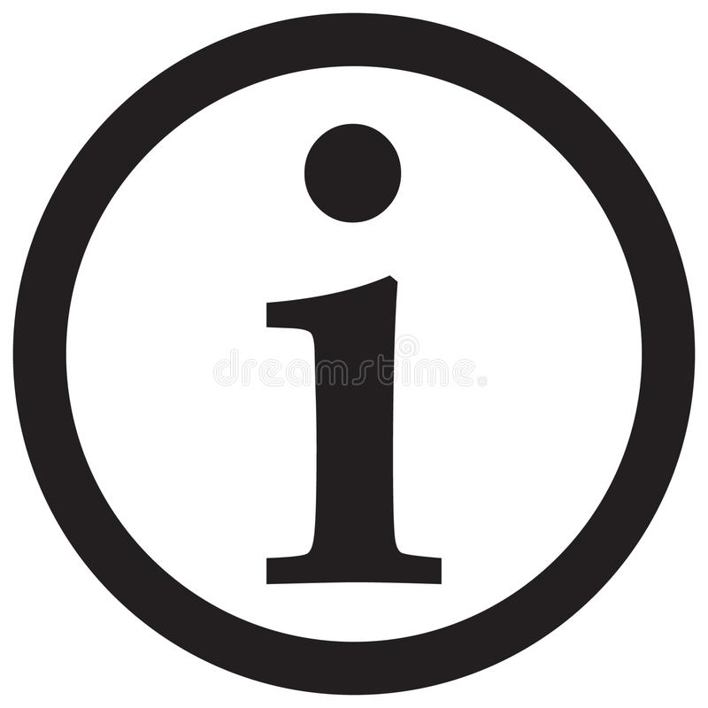 Information sign icon, info icon stock illustration