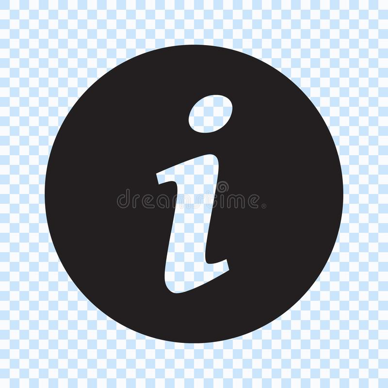 Information sign icon, info icon royalty free illustration