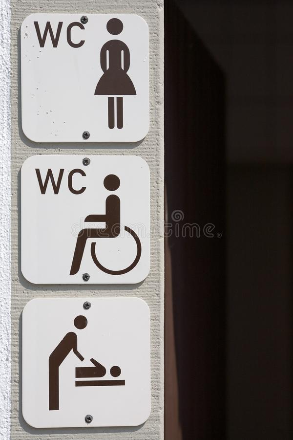 Download Information signs toilet stock photo. Image of woman, baby - 3324990