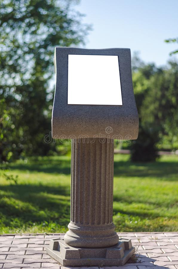 Information stand. royalty free stock photography